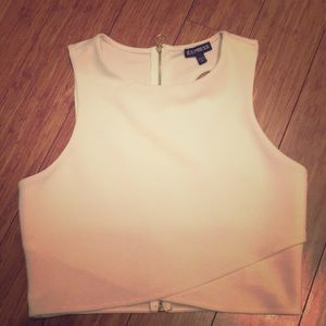 Ivory dress crop top